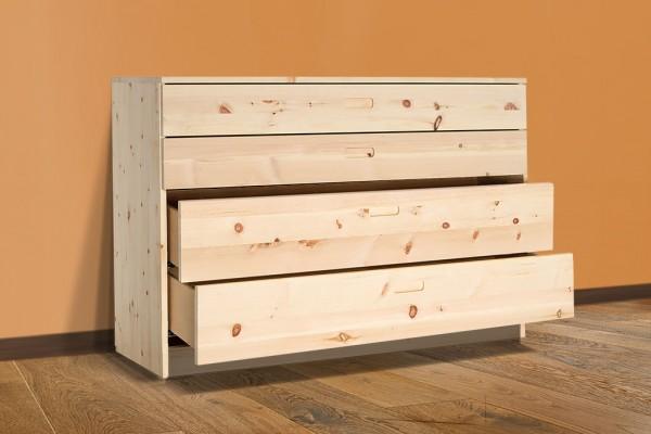 Zirbenholzkomode FRIGG - 4 hochwertige Schubläden