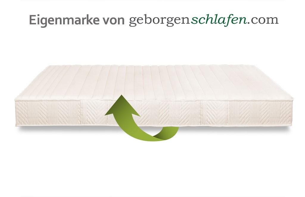 Naturlatex Kautschukmatratze Arvo ökologisch Geborgenschlafende